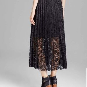 NWT black free people lace skirt size 2